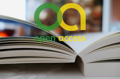 open book with open access logo overlayed