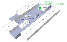 Map of location of guesthouse-1st-floot printer