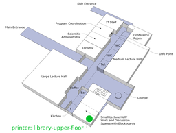 Map of location of library-upper-floor printer
