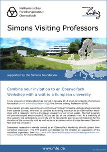 Simons Visiting Professors Poster